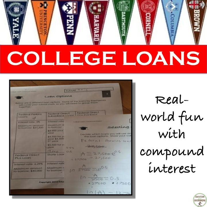 Compound Interest College Loans Project - EDITABLE Pinterest - college loan interest calculator