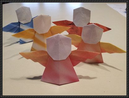This Is A Adorable Angel Origami The Tutorial By Tadashi Mori