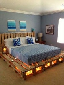 diy bed cool lighting