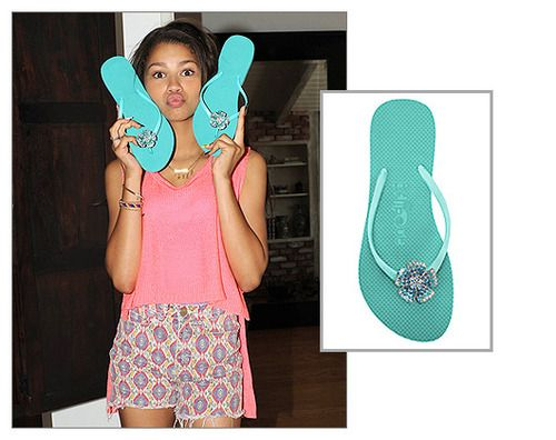 Zendaya Coleman shaking it up with her robin blue FlipOuts!