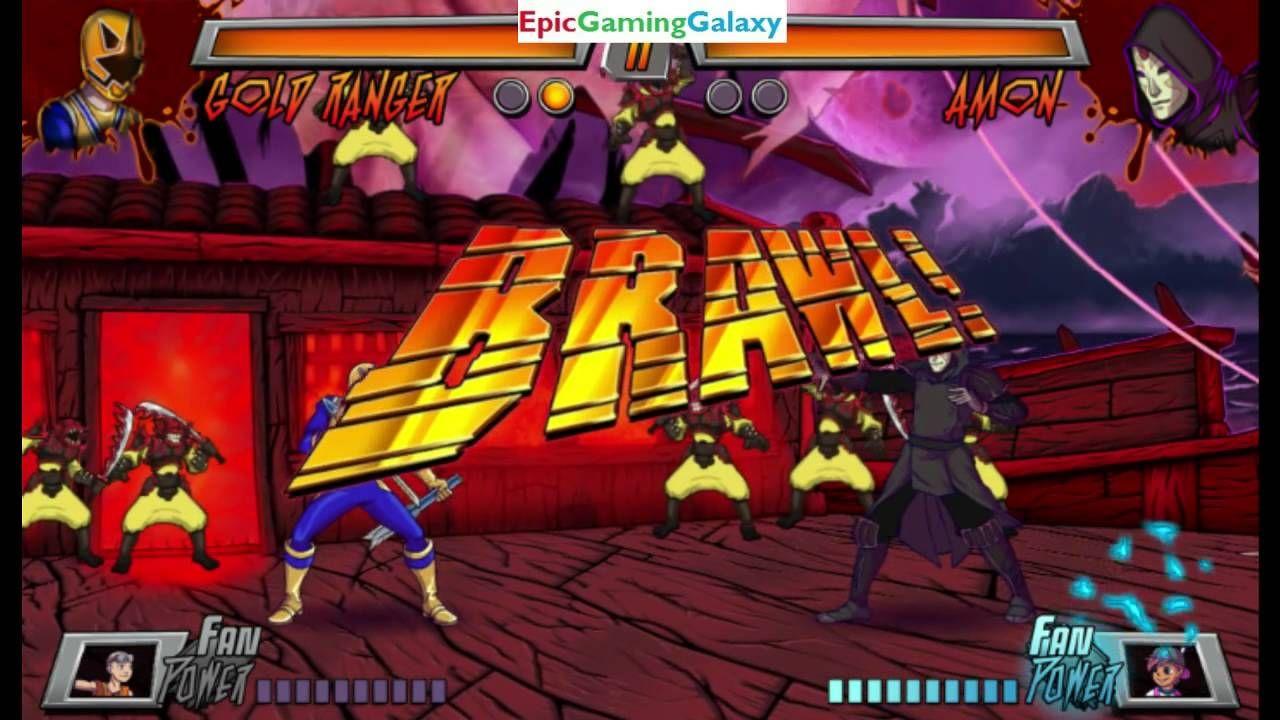 Amon VS The Gold Ranger In A Nickelodeon Superhero Brawl 3