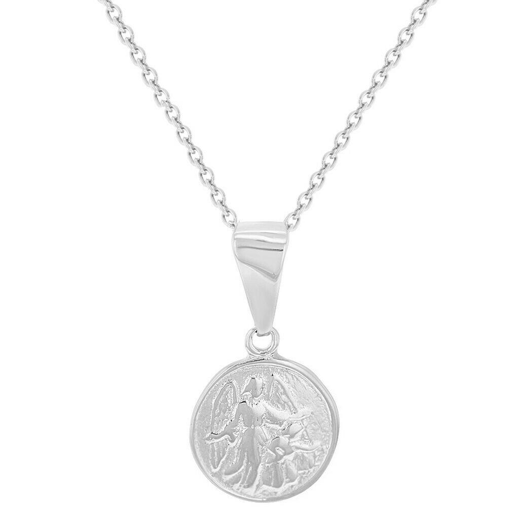 Zirkonia Kinder Baby Schutz Engel Echt Gold 585 mit Kette Silber 925 vergoldet