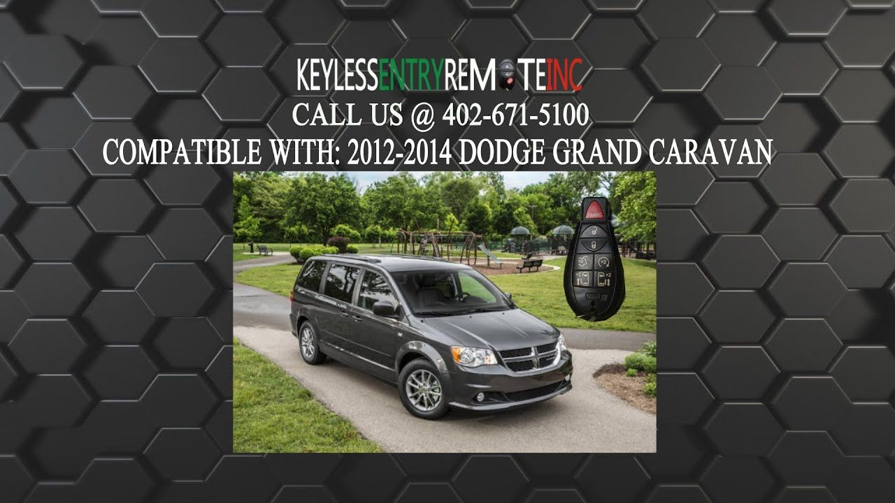 How To Replace Dodge Grand Caravan Key Fob Battery 2008 2014