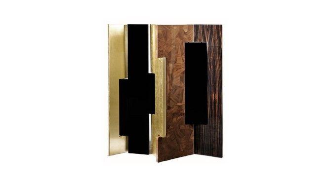 7 Folding Screens for a Dramatic Bedroom Design     #bedroomdesignideas #beautifulbedrooms #modernbedroom #bedroominterior #foldingscreens   See also: www.bedroomideas.eu @bocadolobo @brabbu