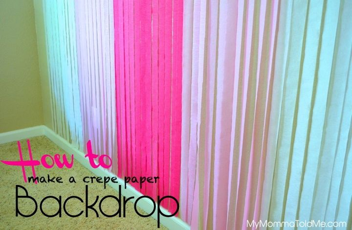 Diy Crepe Paper Photo Backdrop Girl S Birthday Themes Ideas