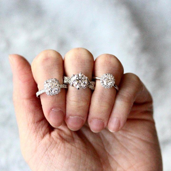 Cushion halo, classic six-prong or round halo - engagement ring #engagementring #diamond #diamondengagementring #engaged #bridetobe #wedding #cushiionring #rounddiamond