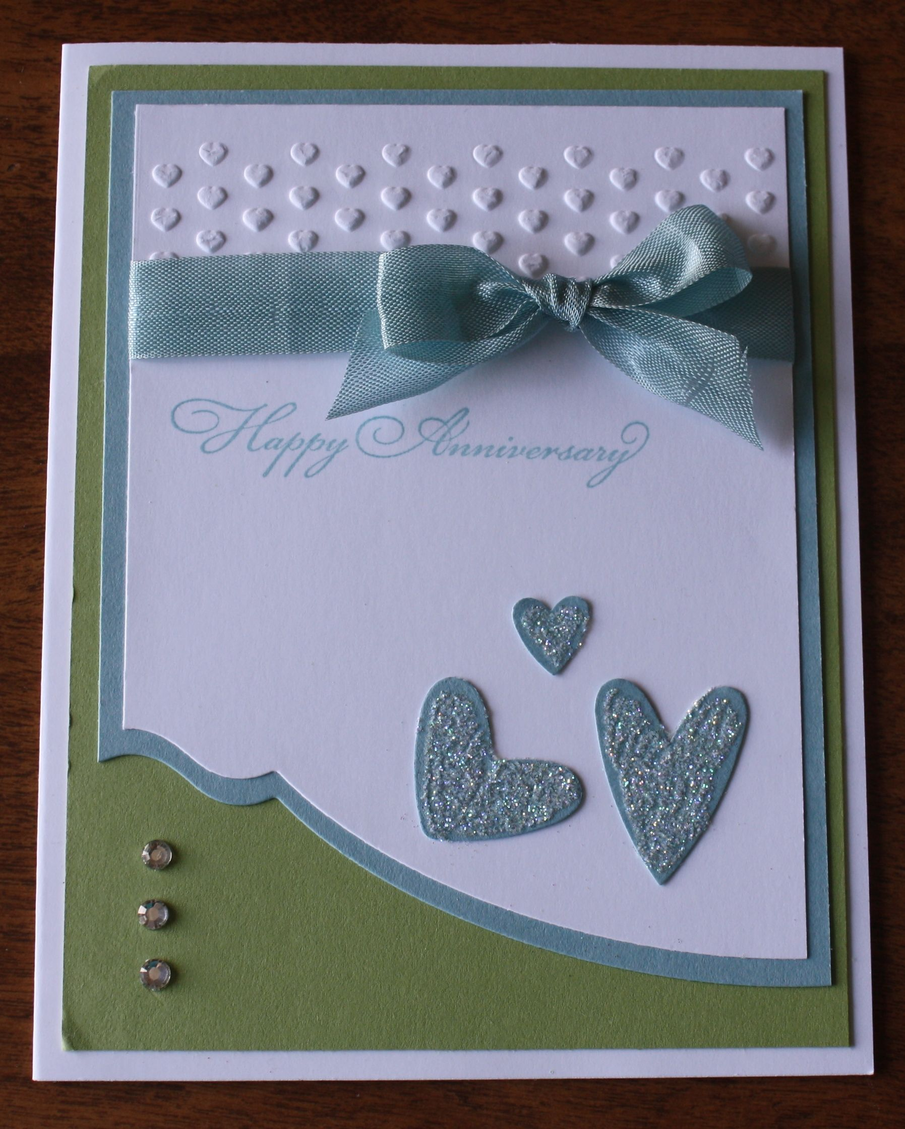 anniversary card using edgelits and hearts embossing