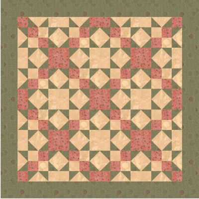 Free Indian Star Lap Quilt Pattern