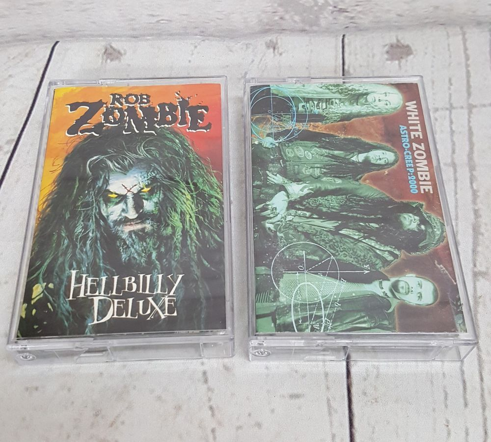 Rob Zombie White Zombie Cassettes Lot Of 2 Industrial Heavy Metal Music Tapes White Zombie Heavy Metal Music Metal Music