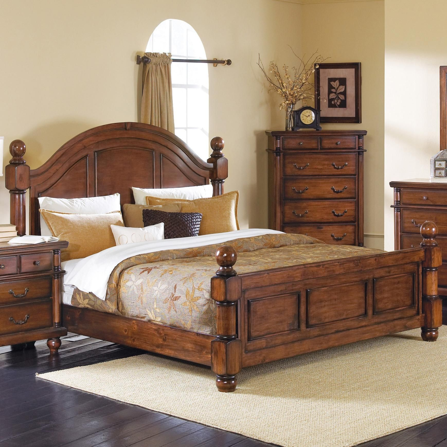Bedroom Sets Traditional Style augusta cal king bedcrown mark | bedroom furniture | pinterest