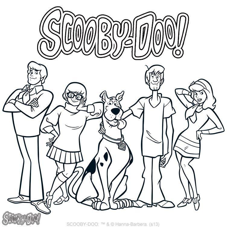 Scooby Doo Coloring Page Scooby Doo Coloring Pages Cartoon