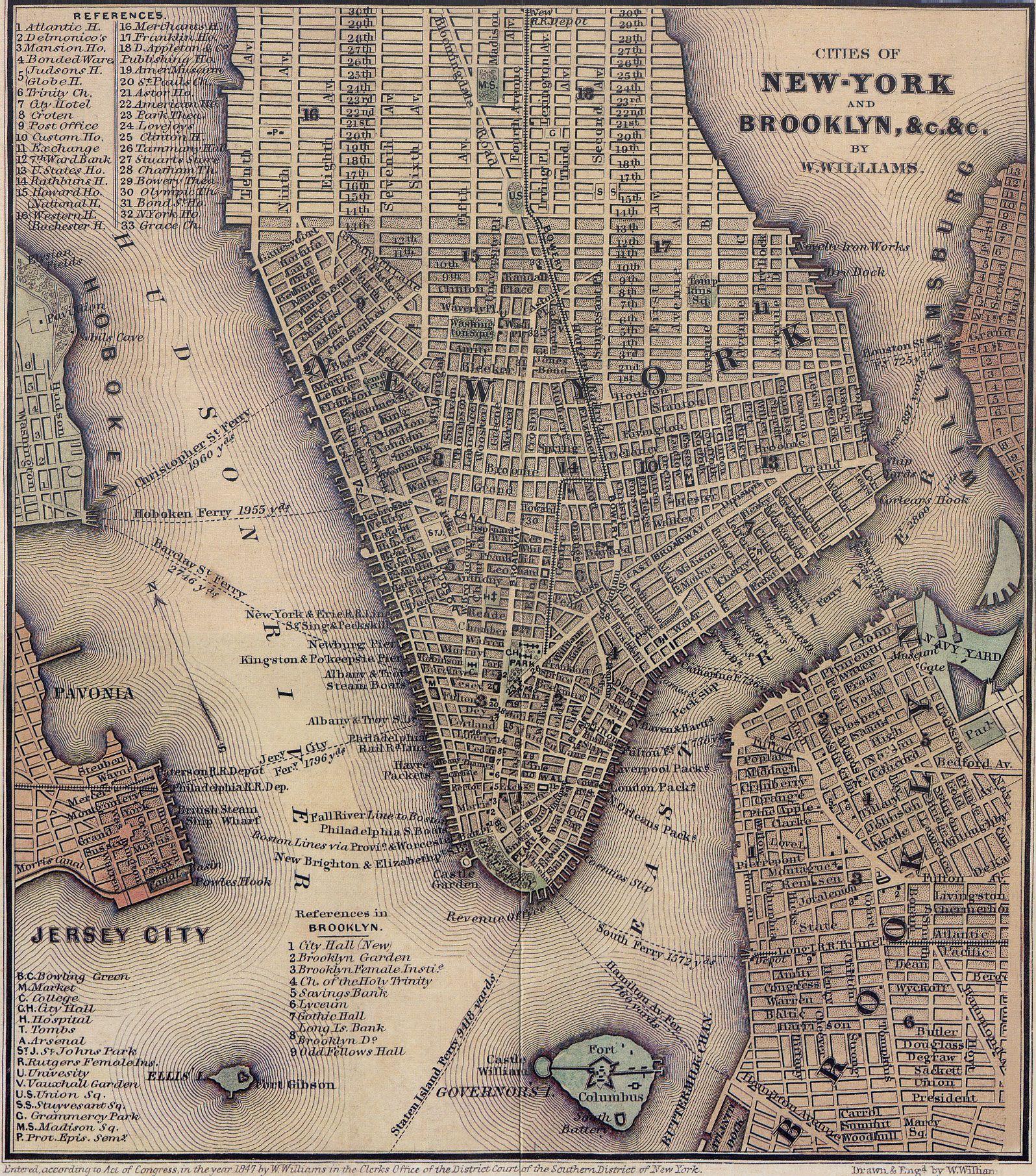 New York City Map New York City Historical Blog Manhattan Map New York City Map Brooklyn Map