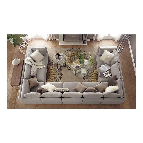 Moda Sectional Sofa, Cosmo Rug I Crate and Barrel