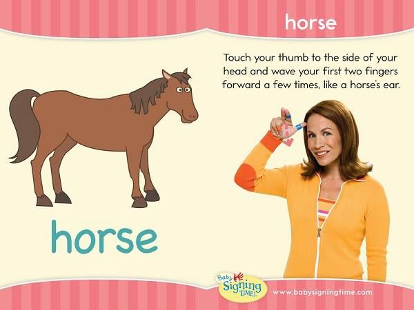 the sign of the week is horse asl signingtime