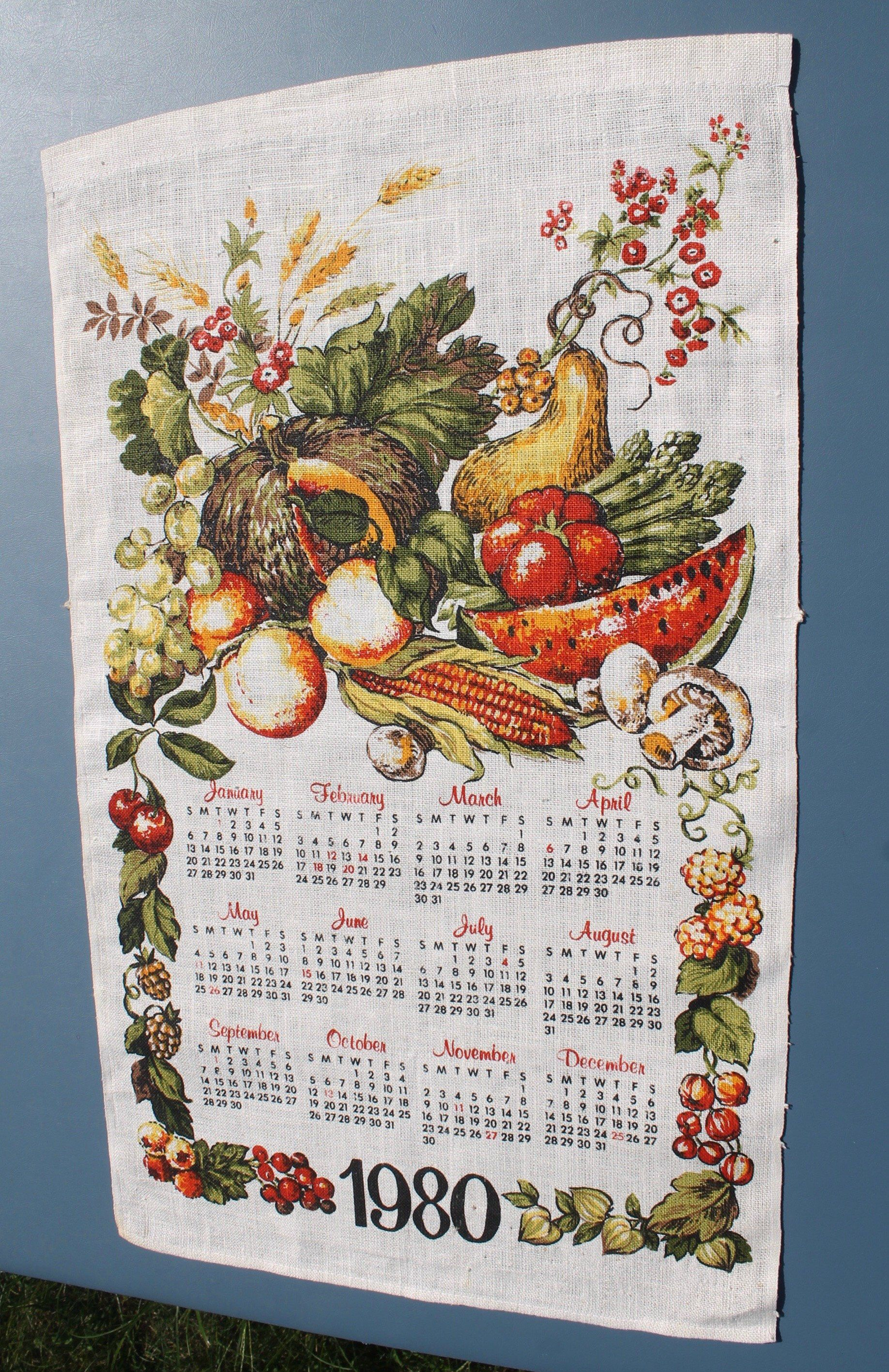 Hamstead Vintage Printed Linen Tea Towel  Dish Towel  Wall Hanging OLD BULL and BUSH London