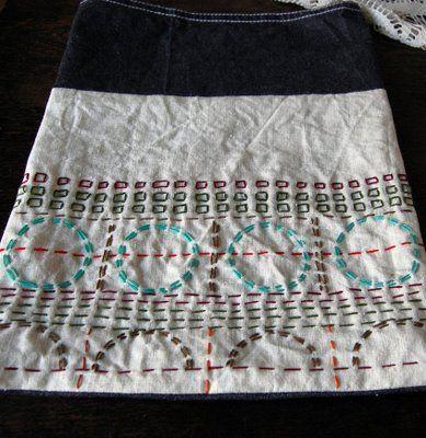 Bohemian girl: embroidery