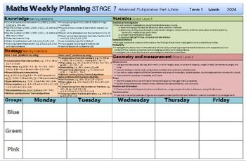 Maths Weekly Planning Templates New Zealand Stage 0 1 2 3 4 5