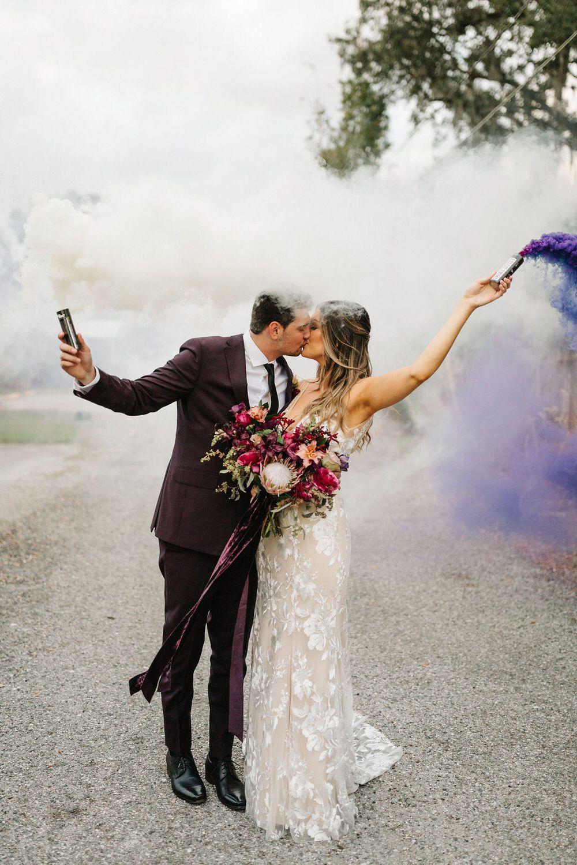 Burgundy Fall Wedding in Orlando Florida ⋆ Ruffled in 2020
