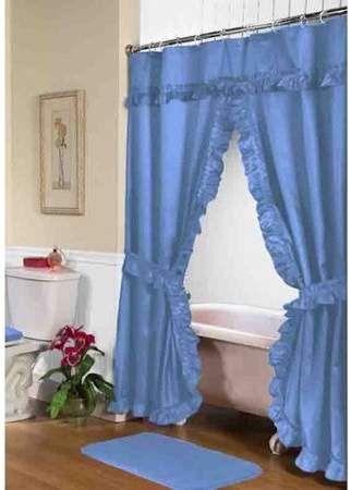 Home Shower Curtain With Valance Bathroom Window Curtains