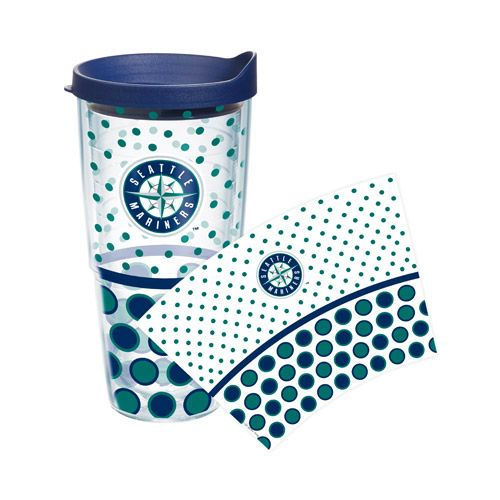 Seattle #Mariners Polka Dot Wrap 24oz Tumbler (With Images