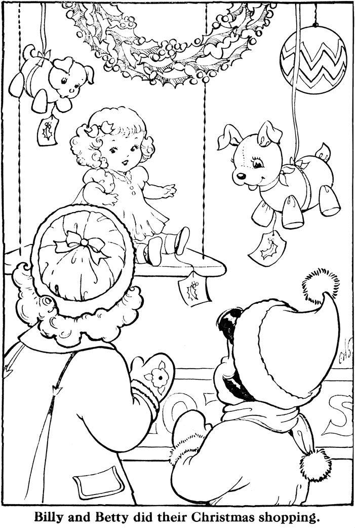 Countdown To Christmas 6 Days Vintage Coloring Books Coloring Pages Christmas Coloring Pages