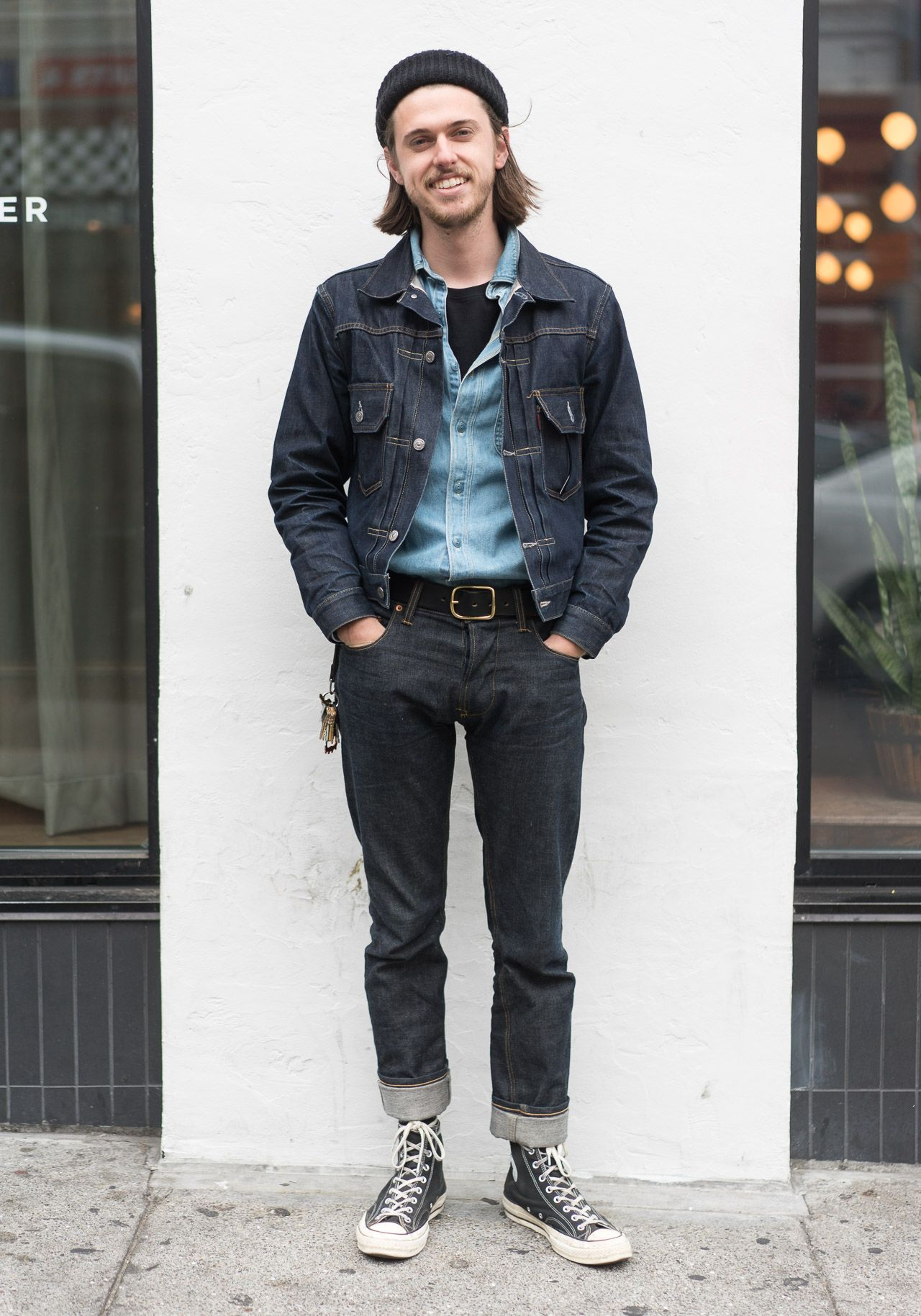 "sf-looks: ""Jack, wearing a Levi's Type II jacket, a Kapital Chambray shirt  I picked up in Tokyo, and the jeans are a new fit made by me."