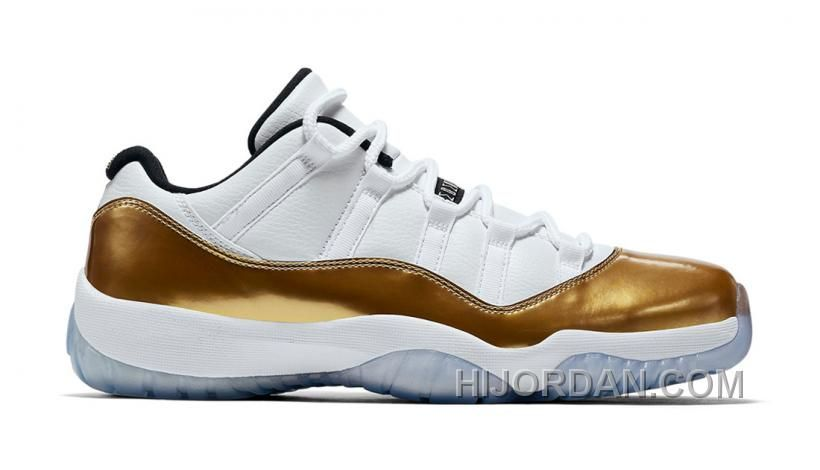 online store 1b43b d6fc9 AIR JORDAN 11 RETRO LOW CLOSING CEREMONY WHITE METALLIC GOLD COIN-BLACK  528895-103 Only  89.90 , Free Shipping!