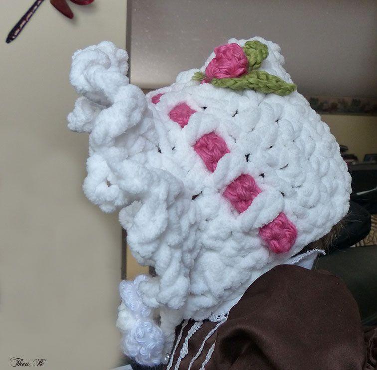 Side View Fancy Baby Bonnet