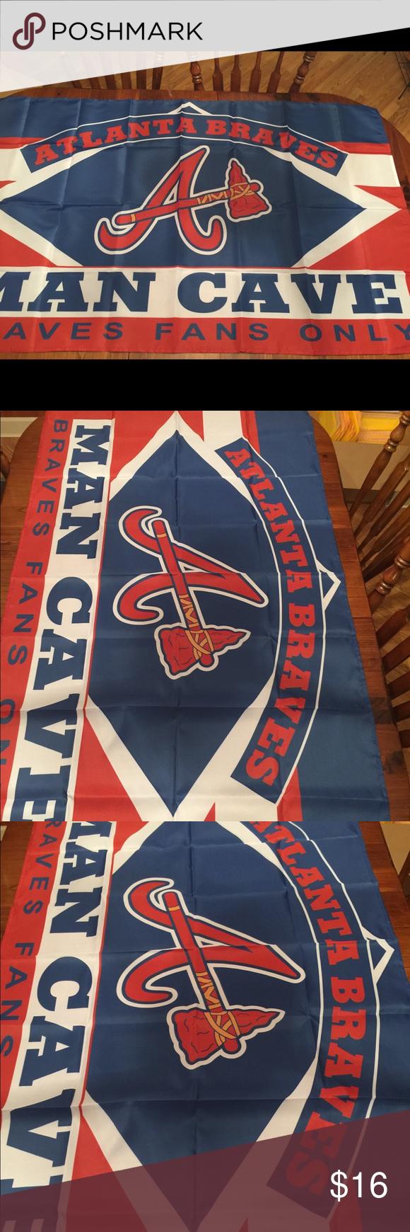 Atlanta Braves Man Cave 3 X 5 Banner Flag Atlanta Braves Man Cave 3 X 5 Banner Flag Brand New This Flag Is Huge Very Durable Atlanta Braves Flag Kids Rugs