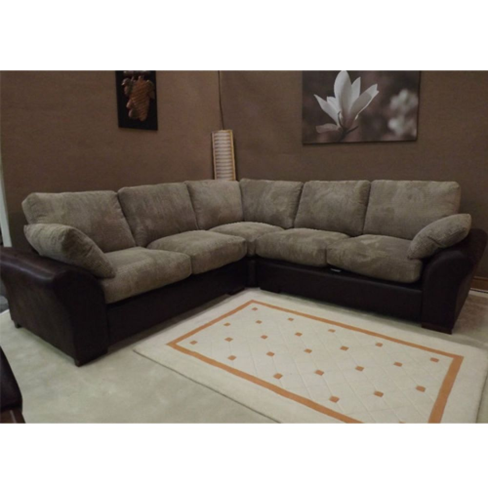 Corner Sofa Bed Jumbo Cord Christopher Dark Brown Leather Corner Sofa Jumbo Cord With Rhino