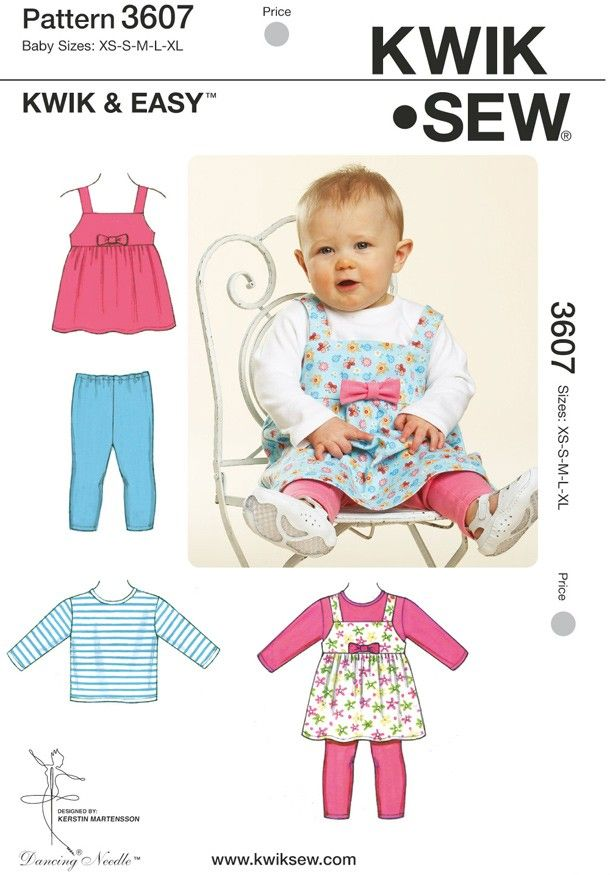 Kwik Sew Infants Casual Sewing Pattern K | Sew.co.uk | Baby dress ...