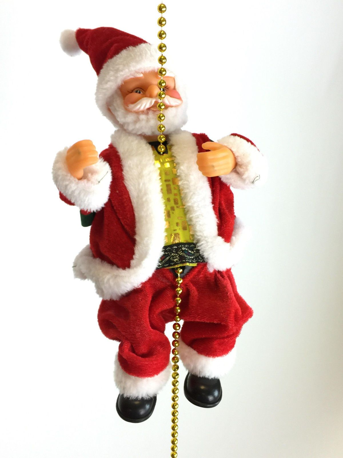 Musical climbing santa clause figure decoration rope indoor
