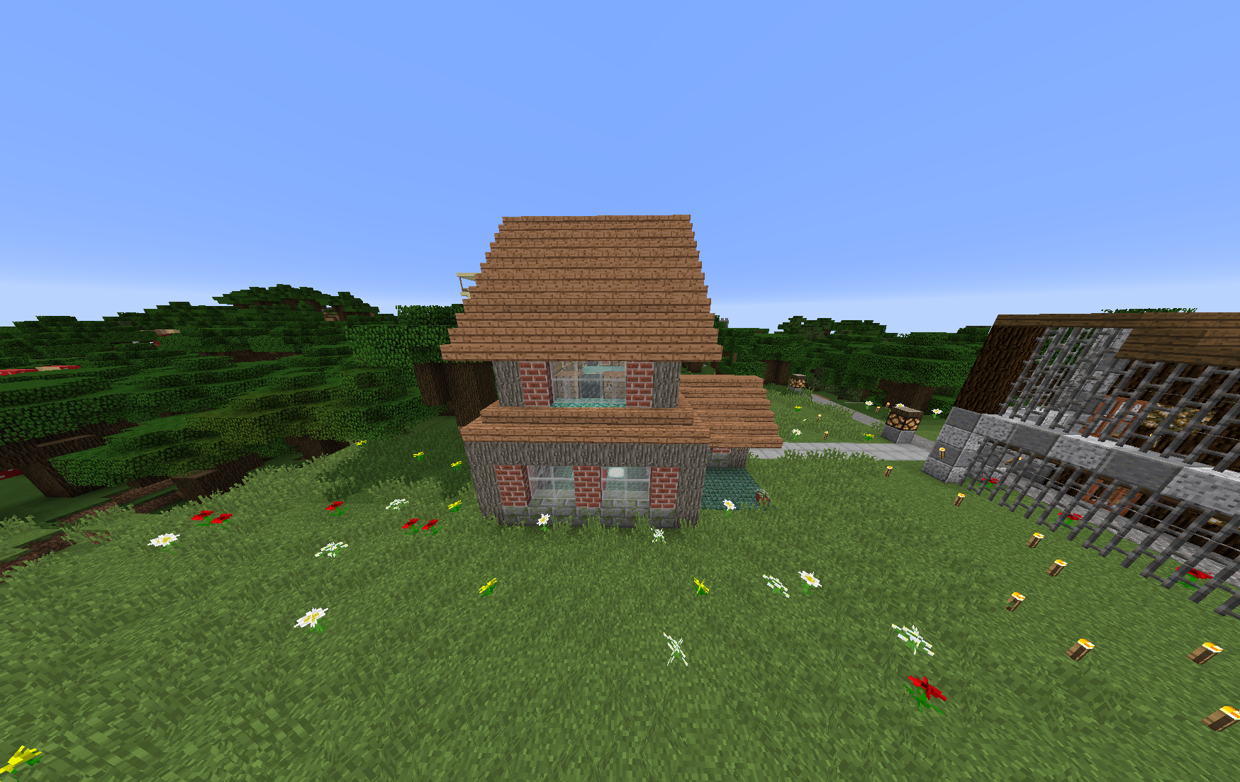 Small Brick house. Minecraft