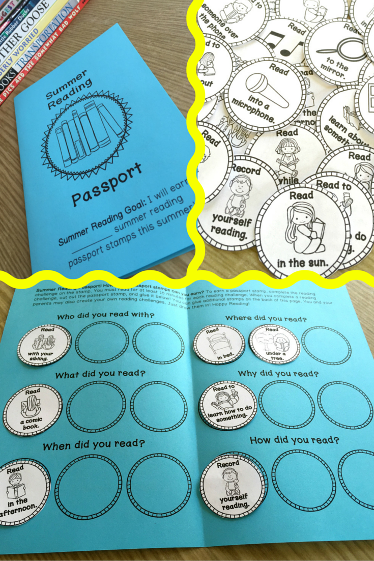 Summer Reading Passport (Single Classroom Use) | Pinterest ...