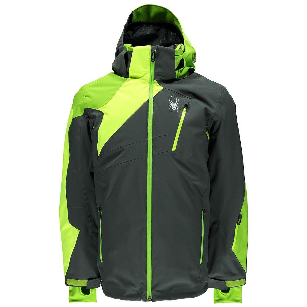 Spyder Vyper Jacket Herren Skijacke grau neon gelb grün