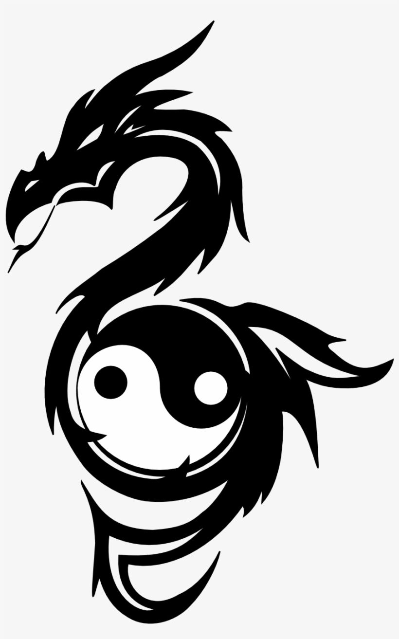 Download Collection Of 25 Yin Yang Dragons Tattoos Dragon With Yin Yang For Free Nicepng Provides Large Re Yin Yang Tattoos Cute Dragon Tattoo Dragon Tattoo