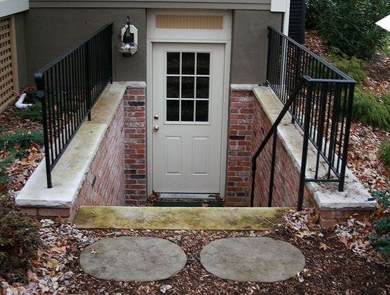 Metal Fence Around Basement Door Basement Entrance Apartments Exterior Basement Doors