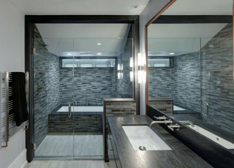 diseño de baño en tonos grises Ideas para el hogar Pinterest - modern tapezieren