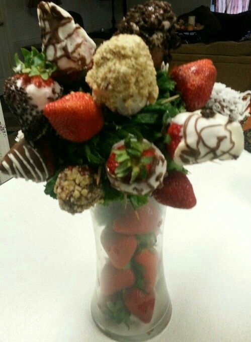 Strawberry Bouquet, Chocolate covered fruit, strawberry gifts