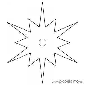 estrella imprimir colorear y recortar 1