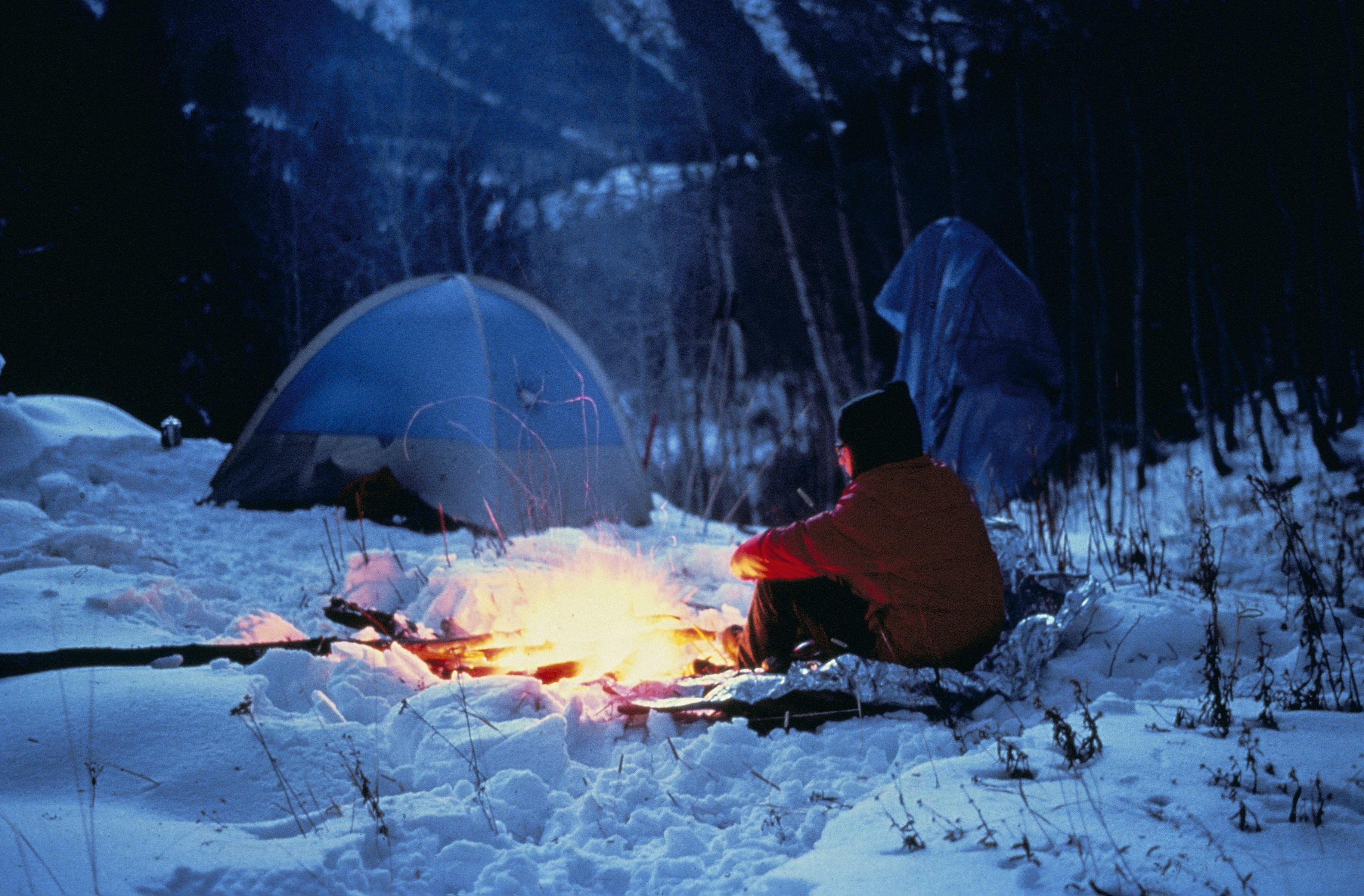 покажите пожалуйста картинки отдыхающих зимой у костра моменты гонки глазами