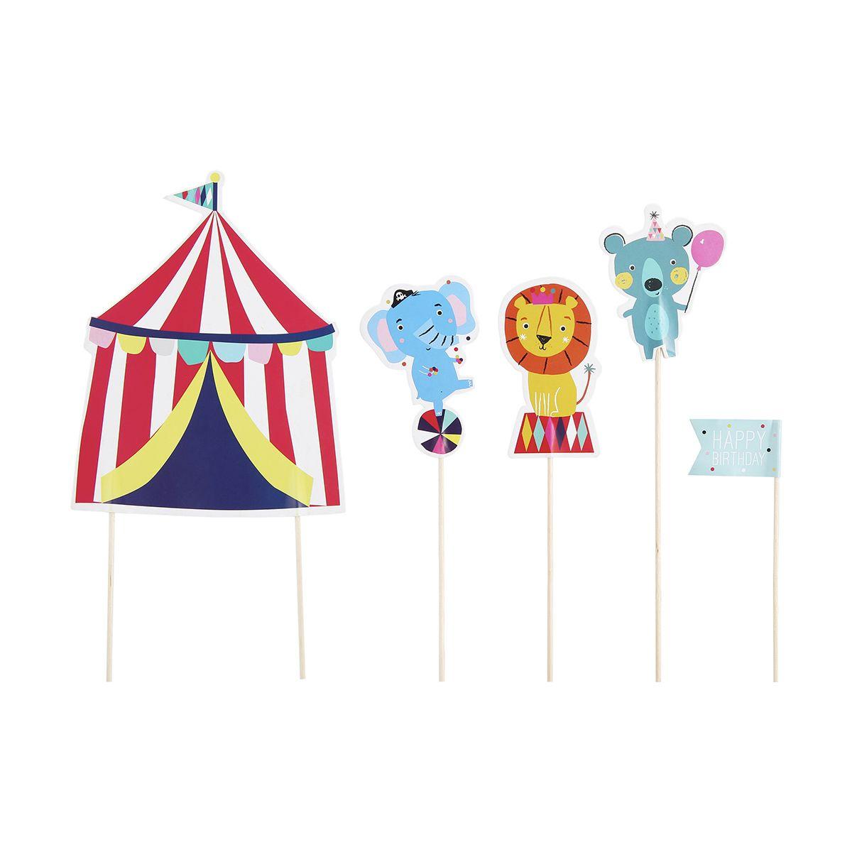 Circus Animal Cake Toppers Set of 5 Kmart 2 Animal