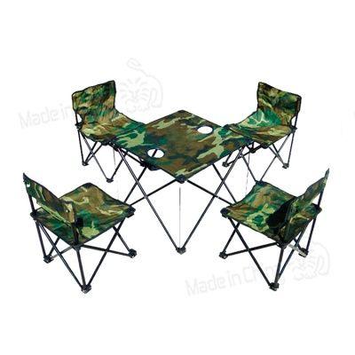 Mesa Plegable De Camping Con 4 Sillas.Hogar Jardin Juego De Mesa Y 4 Sillas Para Camping Plegable