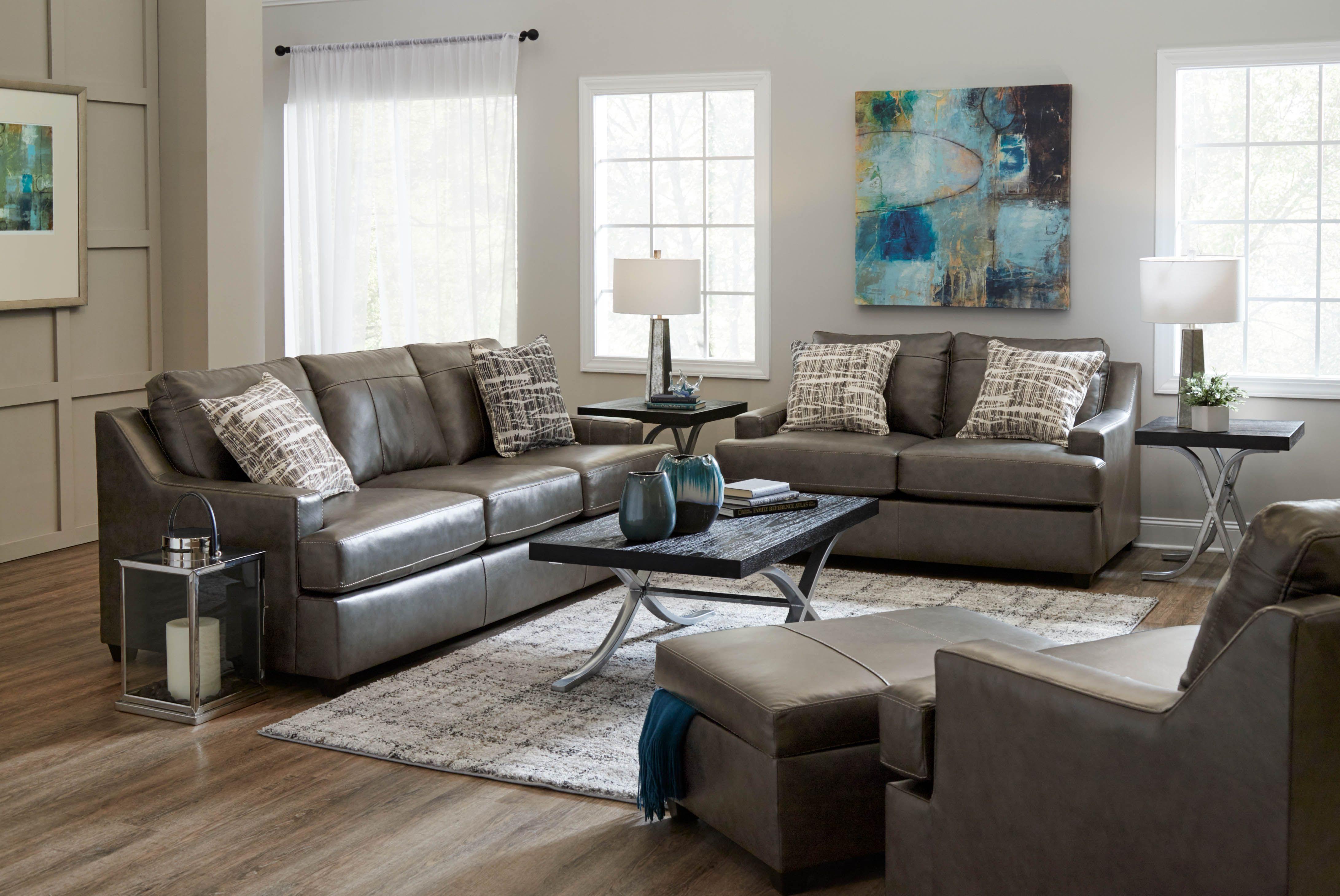 Cordova Iron Leather Sofa Leather Sofa Lane Furniture Formal Living Rooms