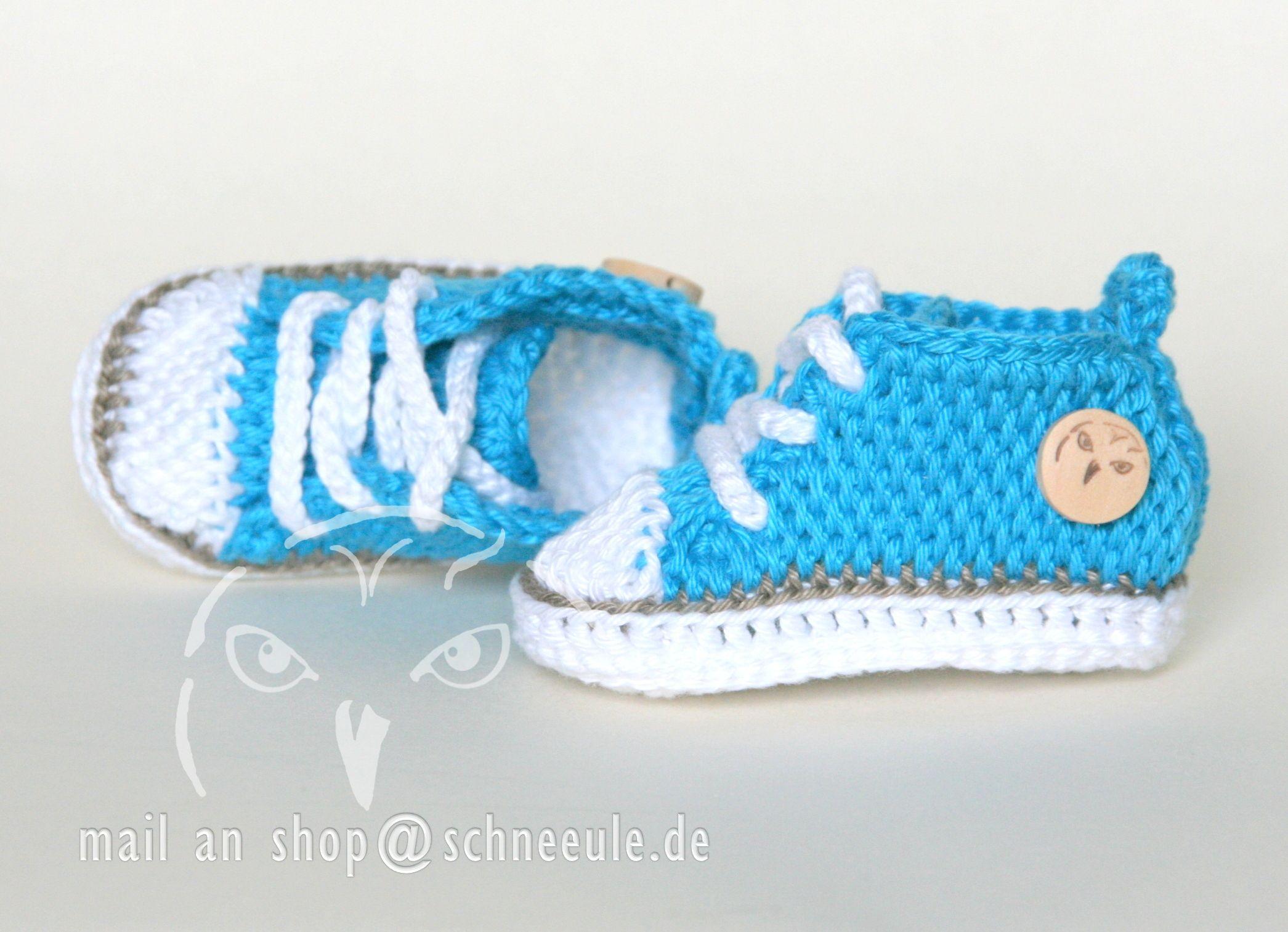 baby shoes chucks crochet,  Baby Schuhe gehäkelt
