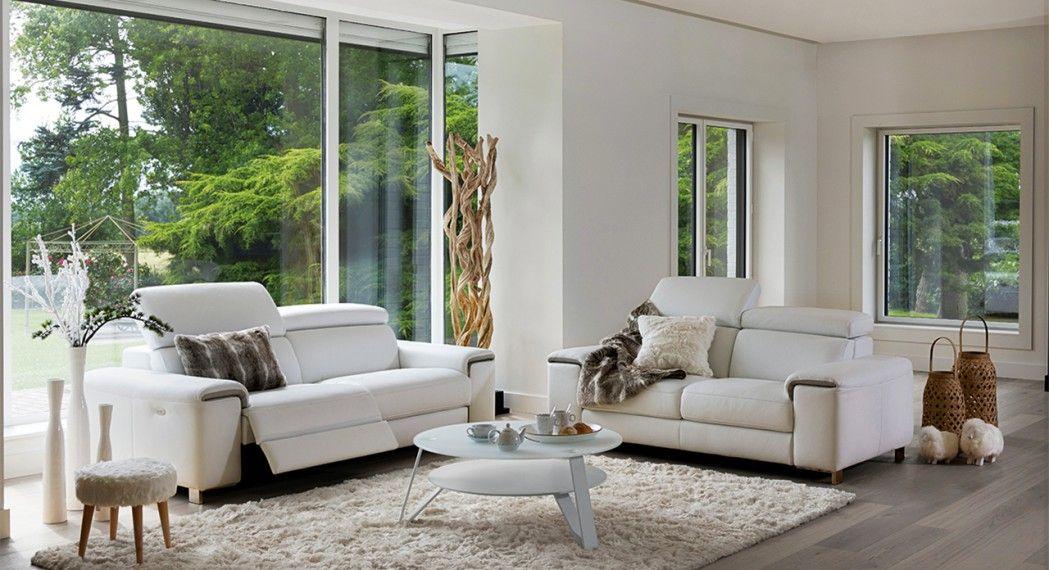 Canap 2 places donegal monsieur meuble salon cuir for Monsieur meuble salon