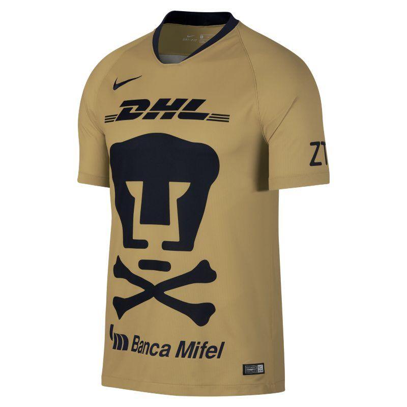 75996205247 Pumas UNAM Stadium 2018/19 Men's Football Shirt - Gold | Products in ...
