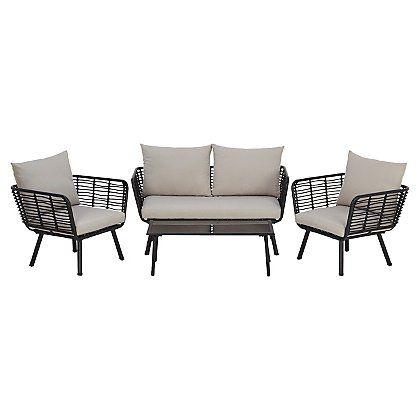 novaro 4 piece garden sofa set garden furniture garden sofa rh pinterest com