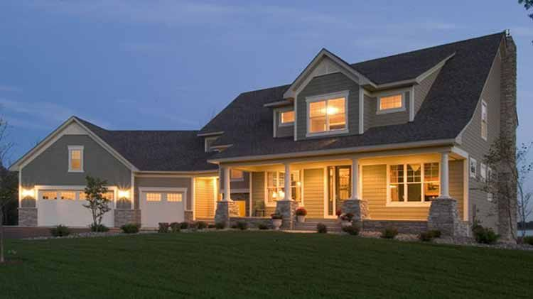 Two Story Lake House Plans With Porches   Floor Plans AFLFPW15476   2 Story  Country Home