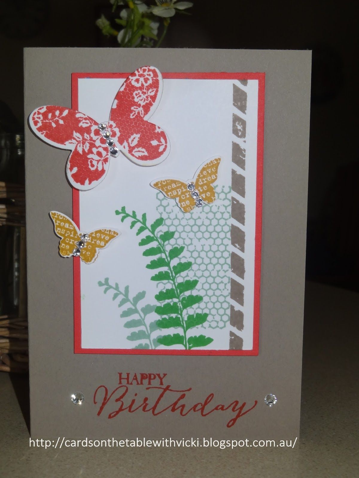 Cards on the table with Vicki: In Colour Butterfly Basics